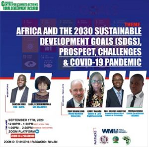 Africa and the 2030 Sustainable Development Goals (SDG's): Prospects, challenges and Covid-19 pandemic.